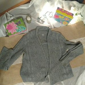 CONVERSE GRAY CARDIGAN SWEATER